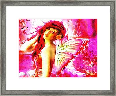 Fairy Angel In The Mix In Thick Paint Framed Print