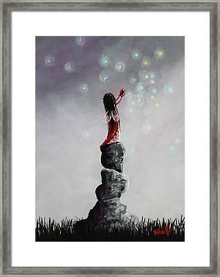 Fairy Art Prints By Erback Framed Print by Shawna Erback
