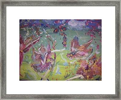 Framed Print featuring the painting Fairy Ballet by Judith Desrosiers
