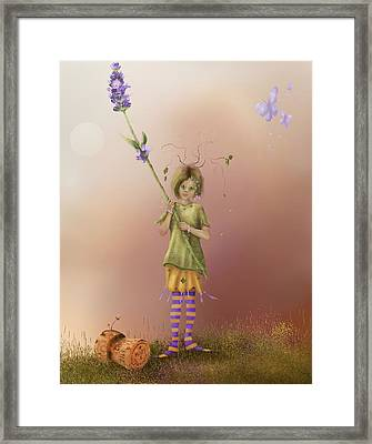 Fairy Bella Lavender Framed Print