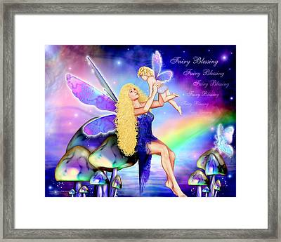 Fairy Blessing Framed Print by Dreamlight  Creations
