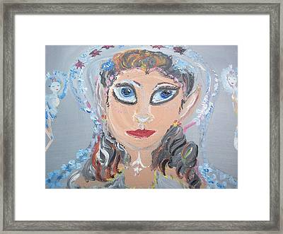Framed Print featuring the painting Fairy Bride by Judith Desrosiers