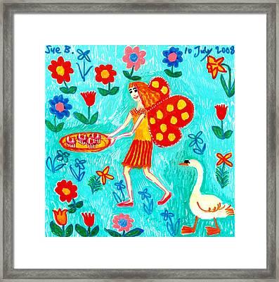 Fairy Cakes Framed Print by Sushila Burgess