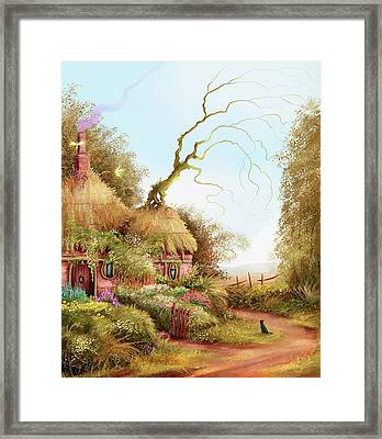 Fairy Chase Cottage Framed Print