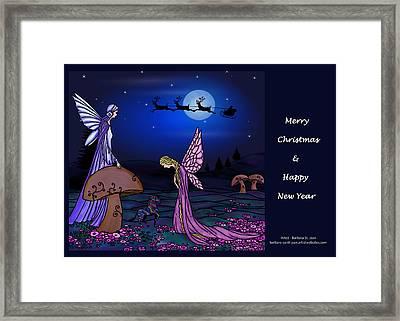 Fairy Christmas Card Framed Print by Barbara St Jean