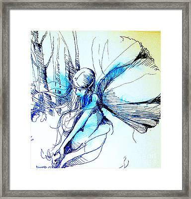 Framed Print featuring the drawing Fairy Doodles by Linda Shackelford