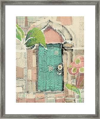 Framed Print featuring the mixed media Fairy Door by Carrie Joy Byrnes