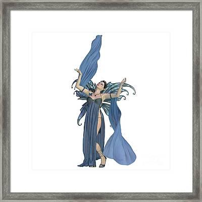 Fairy Elven On White Framed Print
