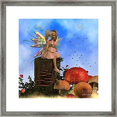 Fairy Faeryl Framed Print by Corey Ford
