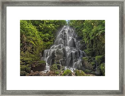 Fairy Falls On A Sunny Day Framed Print by David Gn