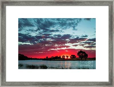 Fairy Floss Skies  Framed Print by Naomi Burgess