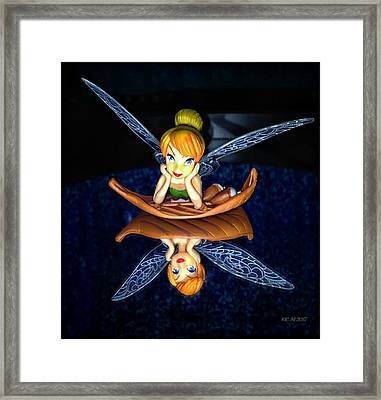 Fairy Grin Framed Print by Catherine Melvin