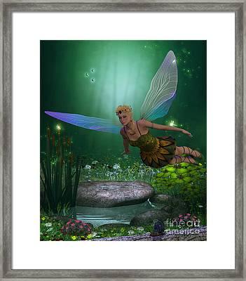 Fairy In Flight Framed Print