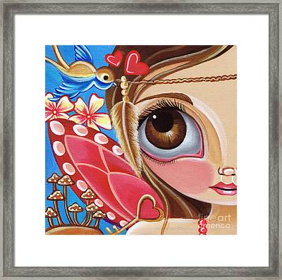 Fairy Jumble Framed Print by Jaz Higgins