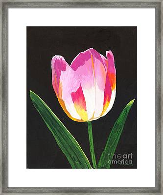 Framed Print featuring the painting Fairy Lantern by Rodney Campbell
