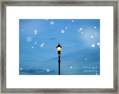Fairy Light Framed Print by Colleen Kammerer