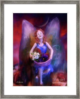 Fairy Of The Garden Framed Print by Joseph J Stevens