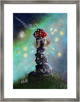 Fairy Paintings - Home For The Night Framed Print