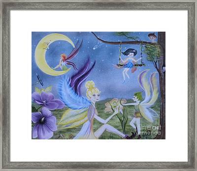 Fairy Play Framed Print
