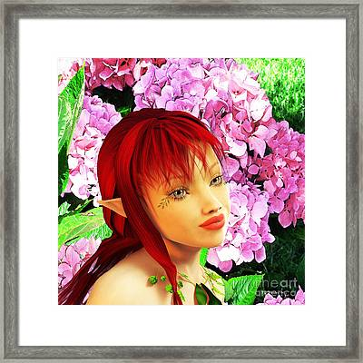 Fairy Portrait Framed Print by Methune Hively