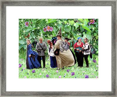 Fairy Queue Framed Print by Lise Winne