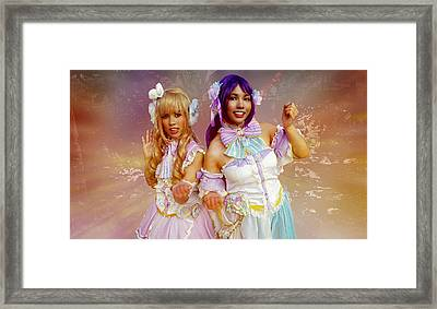Fairy Queens In The Enchanted Forest Framed Print by Ian Gledhill