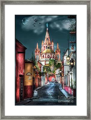 Fairy Tale Street Framed Print