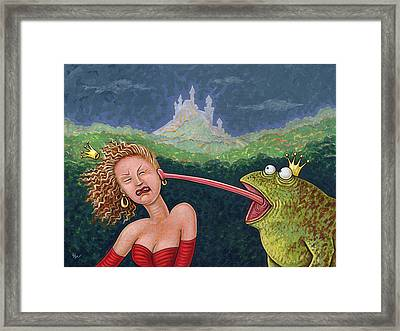 Fairy Tales The Frog Prince Framed Print