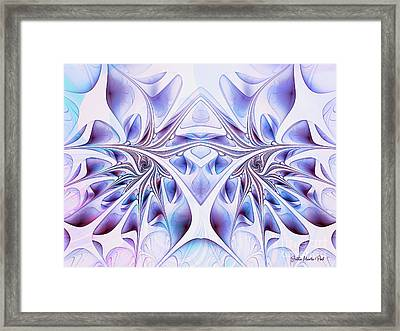 Framed Print featuring the digital art Fairy Wings by Jutta Maria Pusl