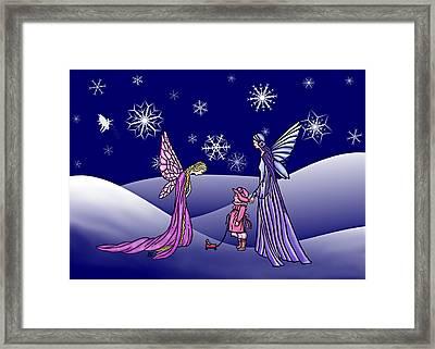 Fairy Winter Framed Print