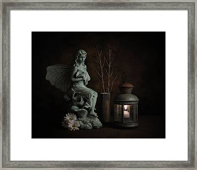 Fairy With Lilies Framed Print by Tom Mc Nemar