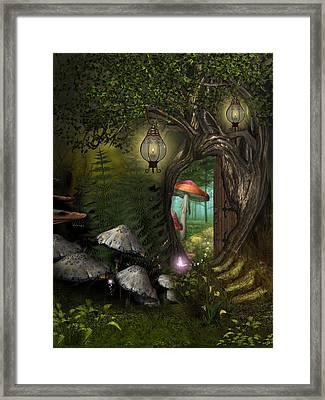 Fairy Woods Framed Print