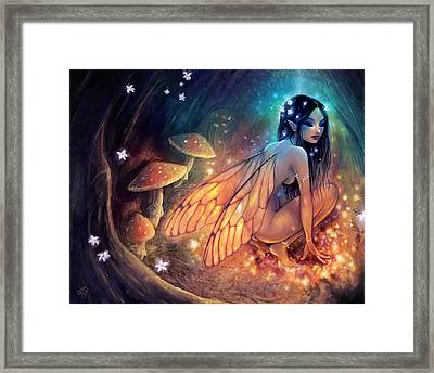 Fairydust Nest Framed Print by Caroline Jamhour