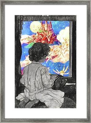 Fairyland Comes At Bedtime Framed Print by John Haldane