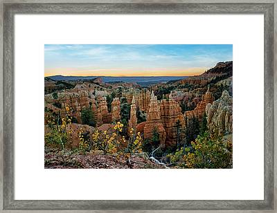 Fairyland Morning - Bryce - Utah Framed Print