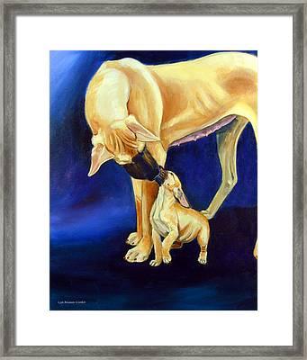 Faith And Hope Great Dane Framed Print by Lyn Cook