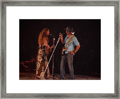 Faith And Tim Sing Framed Print by Bobby Miranda