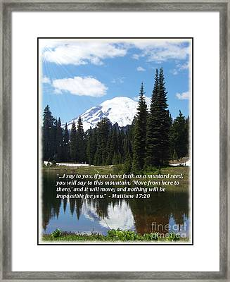 Faith As A Mustard Seed Framed Print by Charles Robinson