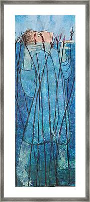 Faith At The Sea Of Reeds Framed Print