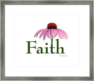Faith Coneflower Shirt Framed Print