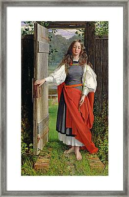 Faith Framed Print by George Dunlop Leslie