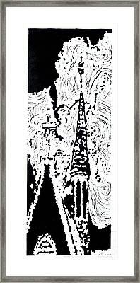 Faith--hand-pulled Linoleum Cut Relief Print Framed Print