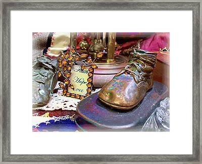 Framed Print featuring the photograph Faith Hope Love 2 by Kate Word