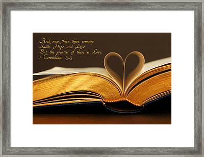 Faith. Hope. Love. Framed Print