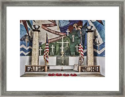Faith Hope Sacrifice Framed Print by Stephen Stookey