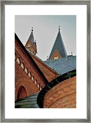 Faith In Geometry Framed Print by Odd Jeppesen