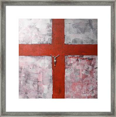 Faith In The Cross Framed Print by Stephen Folaranmi
