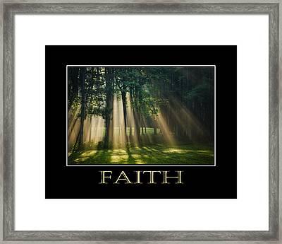 Faith Inspirational Motivational Poster Art Framed Print by Christina Rollo