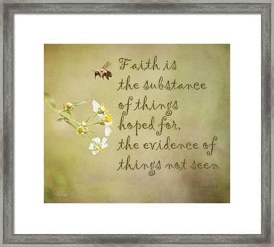 Faith Framed Print by Mechala  Matthews