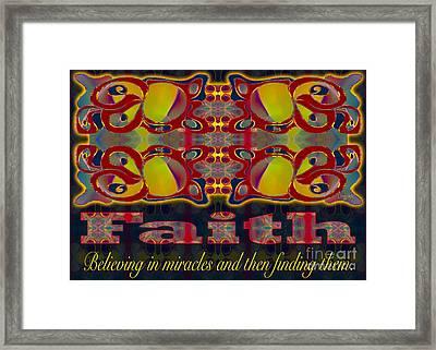 Faith Motivational Artwork By Omashte Framed Print
